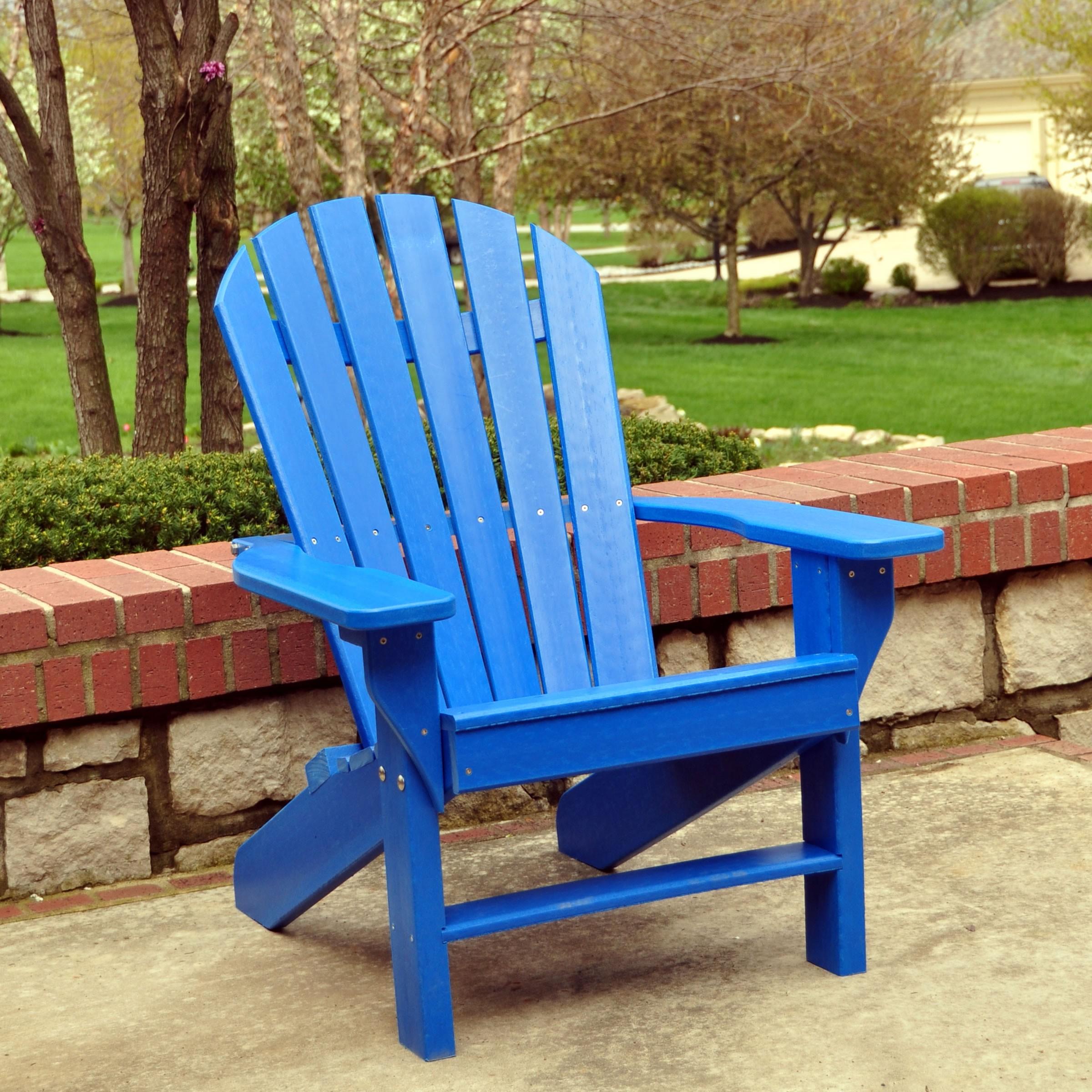 Frog Furnishings Seaside Adirondack Chair Blue