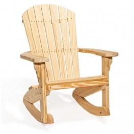 Poly Lumber Wood Fan-Back Rocker