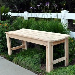 4 Ft. Backless Garden Bench - Natural