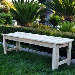 5 Ft. Backless Garden Bench  - Natural