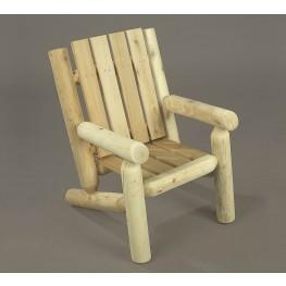 Rustic Natural Cedar Junior Log Chair