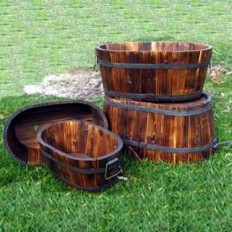Oval Cedar Barrel Set of 4