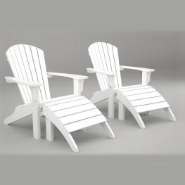 Poly-Wood® Seashell Adirondack Seating Set