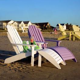 Recycled Poly Lumber Siesta Bayfront Adirondack Chair
