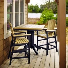 CR Plastics Generations Dining Adirondack  Style Pub Arm Chair