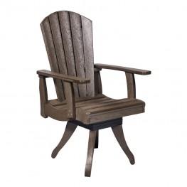 CR Plastics Generations Dining Arm Swivel Chair