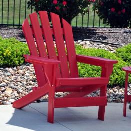 Frog Furnishings Cape Cod Adirondack Chair - Red