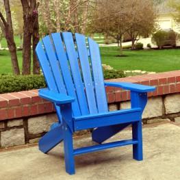 Frog Furnishings Seaside Adirondack Chair - Blue