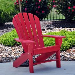 Frog Furnishings Seaside Adirondack Chair - Red