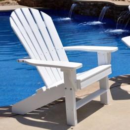 Frog Furnishings Seaside Adirondack Chair - White