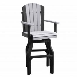 Crestville Adirondack Captain Swivel Bar Chair