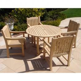 Poly Lumber English Style Garden Conversation Set
